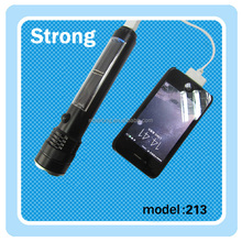 USB+solar power LED solar flashlight