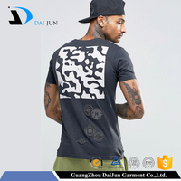 Daijun OEM Dark gray 100% Cotton Embroidered Patch Boy' s 100 cotton fabric for t-shirt