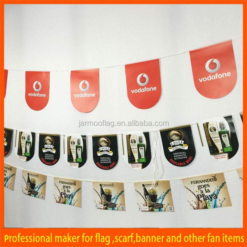 World holiday single side printed flags and flag poles