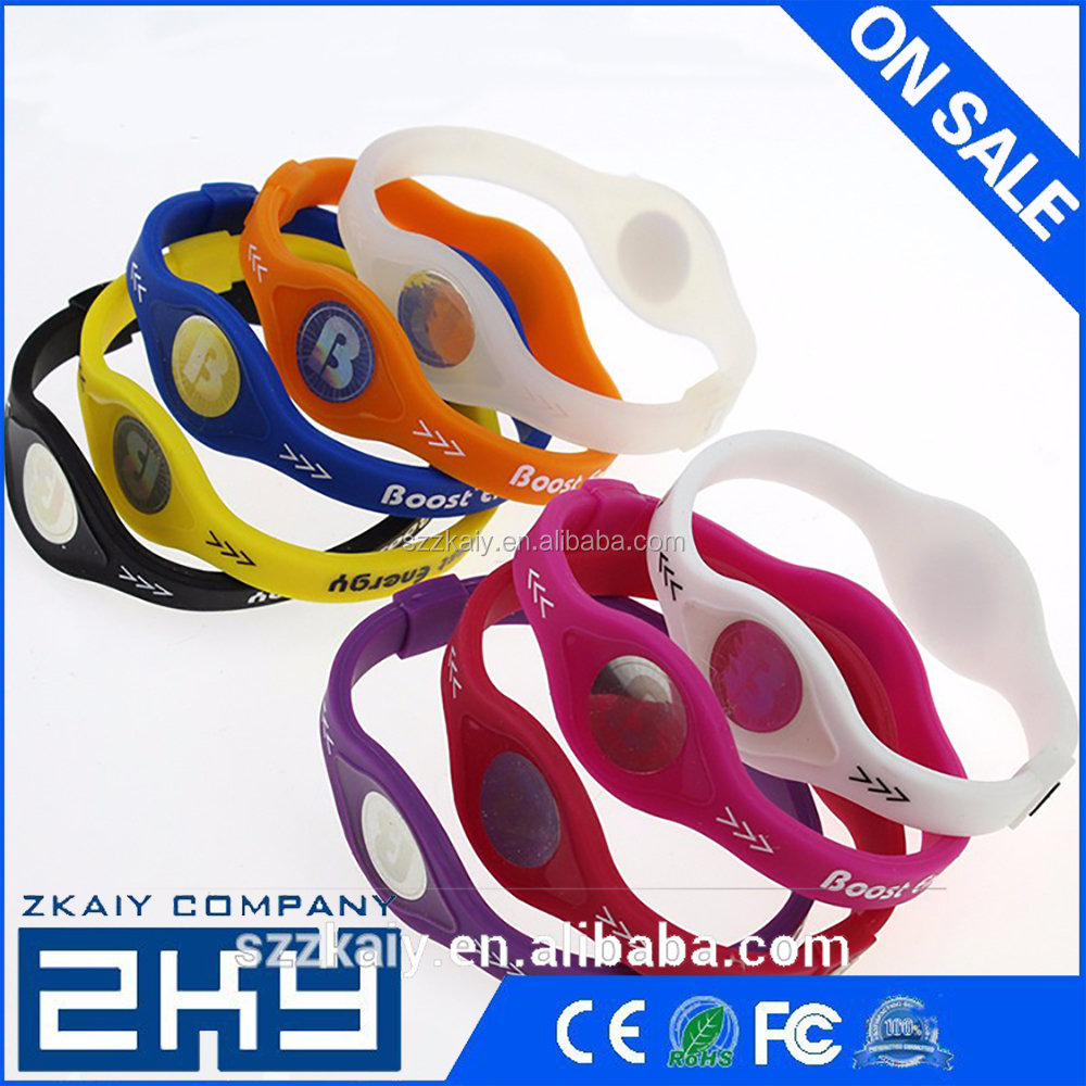 Power Energy Balance Bracelets Wristbands Balance Ion Magnetic Therapy Fashion Silicone Bands