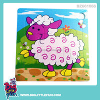 Sheep pattern wooden puzzle toy factory
