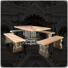 Hot selling outdoor stone tables and benches