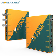 AVMATRIX Converter HDMI to bnc 3G-SDI Scaling Broadcast Converter with audio/AES/EBU embedded