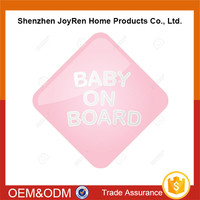 PVC/PP Car Window Sticker baby on board Warning Sign