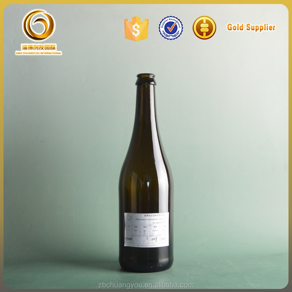 Empty wholesale champagne drink glass bottle