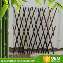 Barrier decorative retractable fencing for gardens willow trellis/expandable willow fence