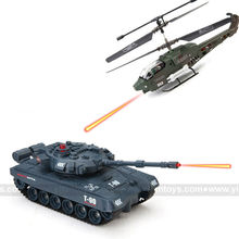 IR-GROUND WAR--RC Battle Tank VS RC Battle Helicopter RC Tank