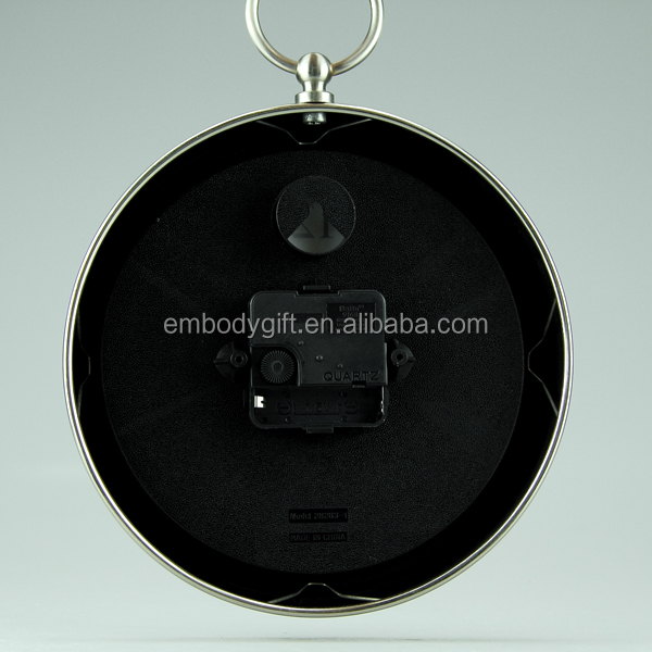 Table top decorative with white face paper black pointer metal table alarm clock