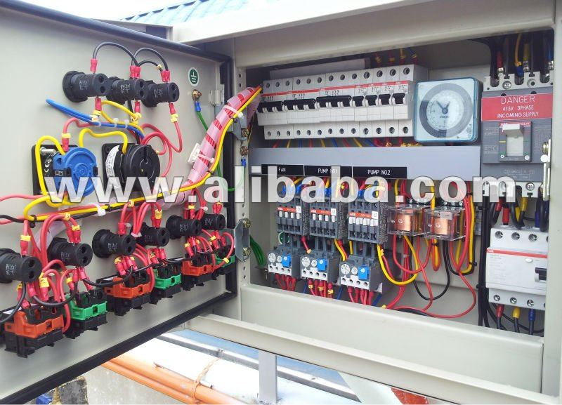 Pumps, cooling tower and air conditioner starter board