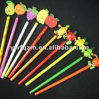 wood cartoon 3D fruit pencil for promotion