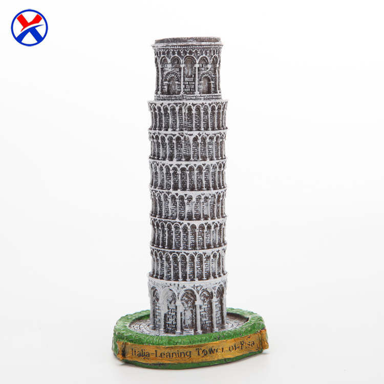 Hot sale Mini Italy famous 3d building the Leaning Tower of Pisa resin exquisite souvenir