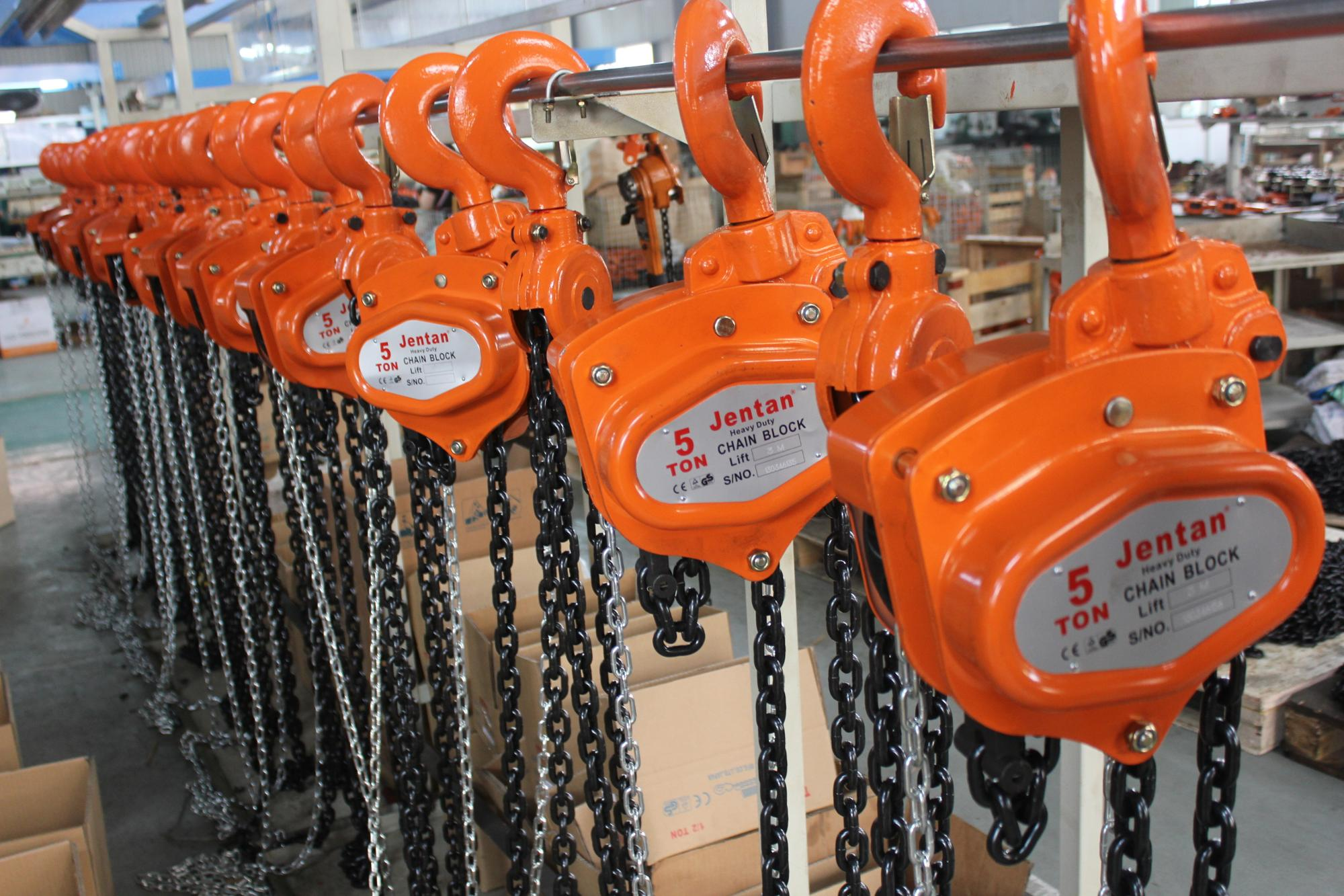 JenTan chain block hoist TUV CE approved 2 ton lifting chain hoist