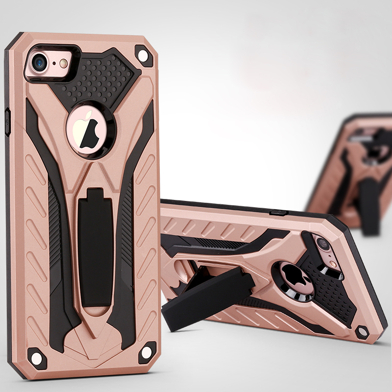 New design phantom series 2in1 hybrid kickstand defender phone case <strong>cover</strong> for iphone 7 case