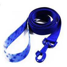 Custom Star Pattern Nylon Dog Leash With Plastic Handle