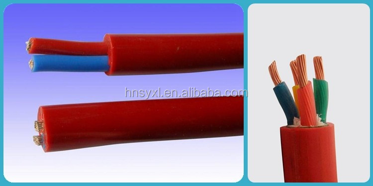High temperature flexible power cable with rubber insulation power cable