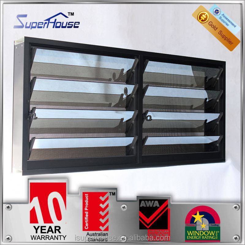 Delicate glass blinds aluminum window louver with WEISS adhesive