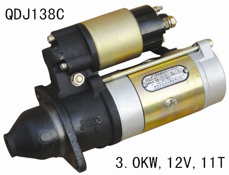 Auto starter motor QDJ138C 12V 3KW 11T used in Tractors