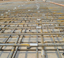 Rebar splicing coupler for scaffold