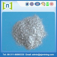 20 mesh white versatility mica widely used in asphalt paper, rubber, pearl pigment etc.
