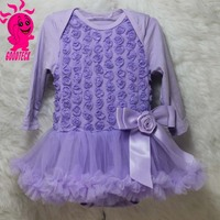 Baby Rosette Tutu wedding party dresses infant girls clothes