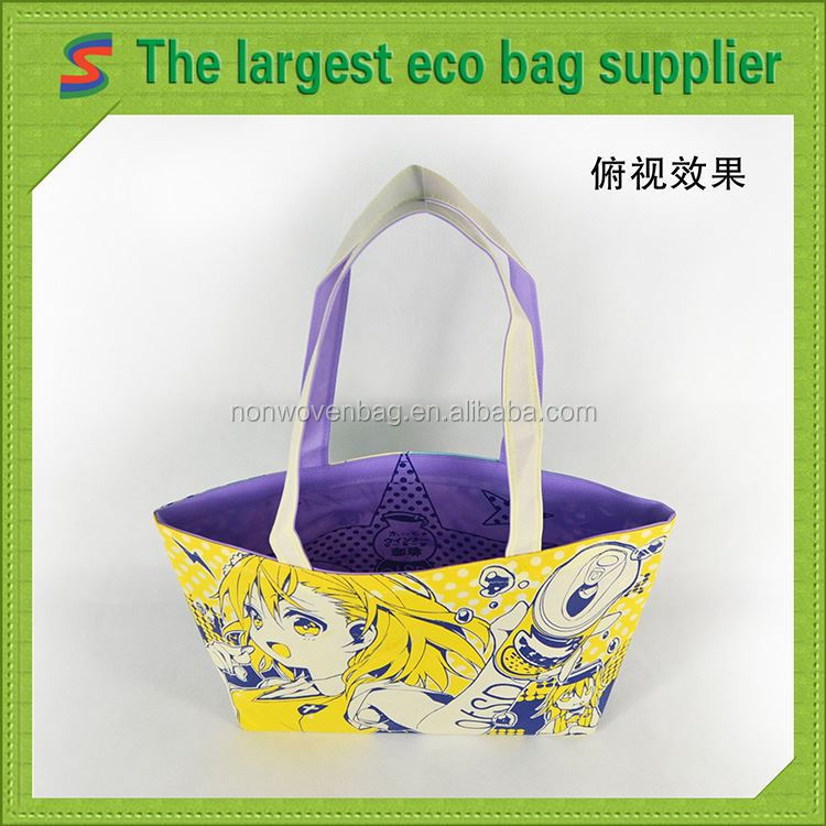 Recycled Nonwoven Promotional Bag Non Woven 6 Bottle Wine Tote Bag