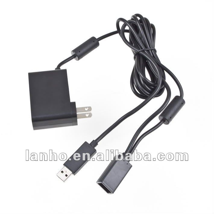 US AC Power Adapter USB Cable For Xbox 360 Kinect Sensor