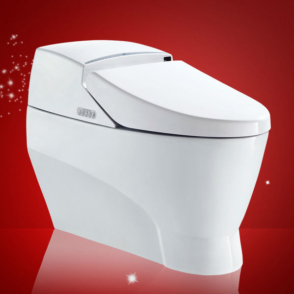 Bathroom Toilet Auto Flush Saving Water Intelligent Toilet Bowl