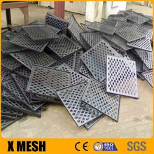 Customize Special shapes stainless steel perforated sheets square hole with 1000mm width