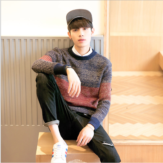2016 man winter clothing fashion knit sweater for men