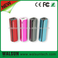 Lipstick Design Aluminum Housing Portable Mini 2200mah Mobile Power import cheap goods from china
