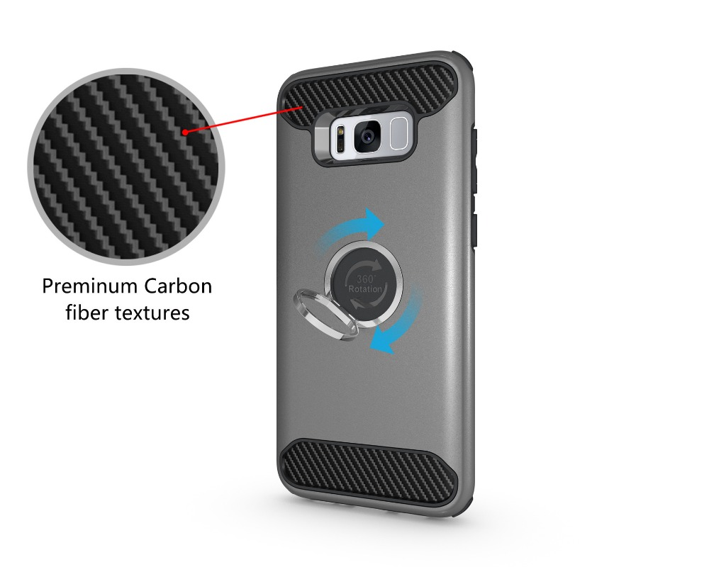 360 degree rotation stand case for samssung galaxy s8 plus smartphone, tpu pc holder case for s8 plus