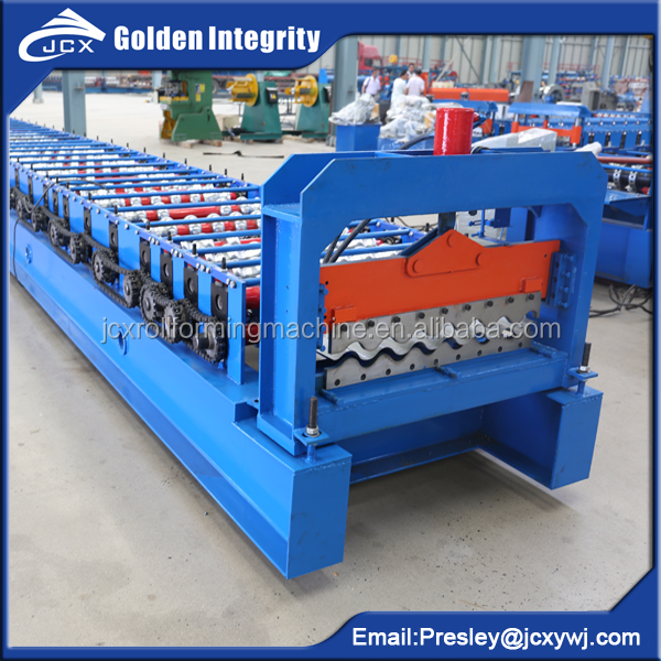 Galvanised aluzinc Corrugated steel roofing siding cladding Panel Roll Forming Machine Supplier