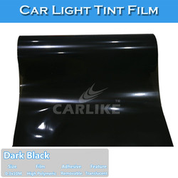 Fast Delivery Waterproof 0.15mm Thick Tail Light Tinted PVC Sheets Black