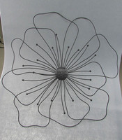 Metal Home decor Wire flower wall hanging