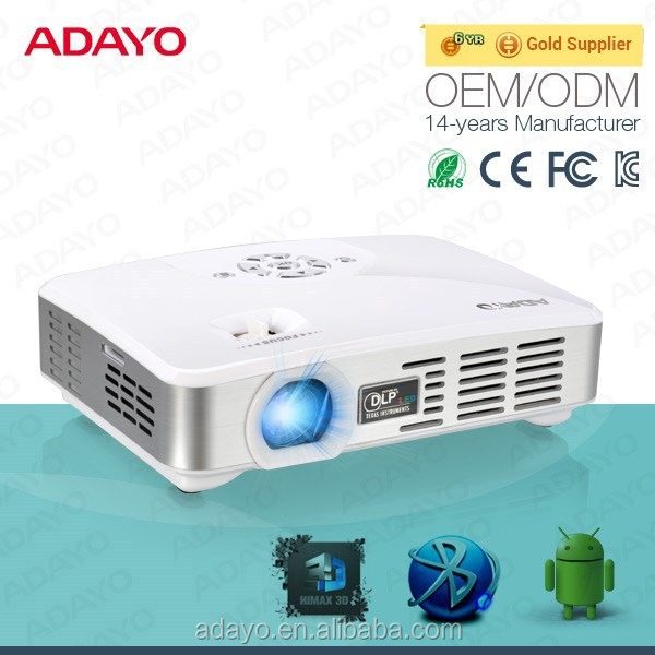 New hot WIFI home theater Android 4.4 Full HD LED video game tv projector with HDMI / USB / AV / VGA / SD/