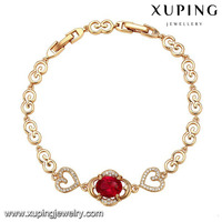 73307 Guangzhou Xuping 18k gold bracelet, gold plated fashion women charm bracelet