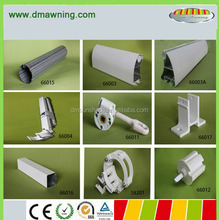 Outdoor retractable aluminum awning parts for balcony