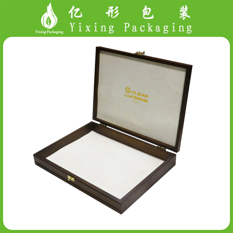 Custom logo hot sale solid new design wooden storage gift box for wedding