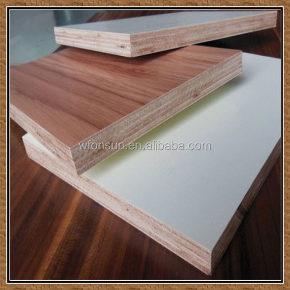 discount top quality 4.4mm hardwood core e1 grade plywood one side with hpl coated from China factory