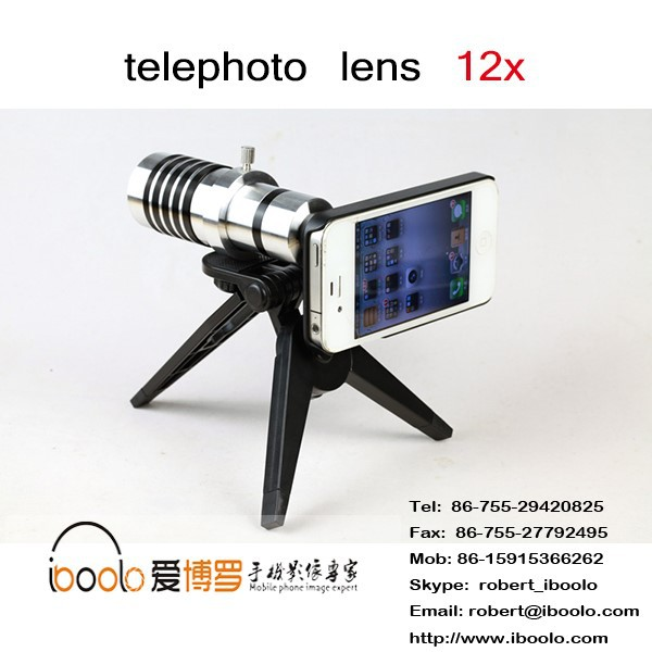 facrory price !!!12x telescope zoom optical glass lens for mobile phone