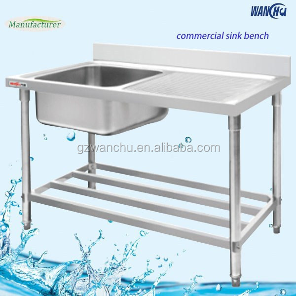 Restaurant Stainless Steel Vegetable Sink/Commercial Sink/Kitchen Sink With Dish Drainer