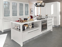 Imported From China Ready Made Modular White PVC / Vinyl Kitchen Cabinet Simple Design