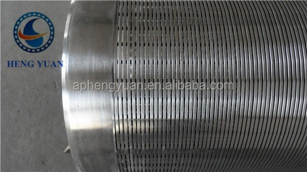 China Hengshui Manufacture perforsted slotted filter v wedge wire stainless steel water well screen