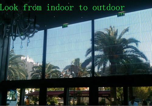Outdoor DIP led Mesh full color p16 P25 p31.25 p50 transparent glass wall led screen video wall screen