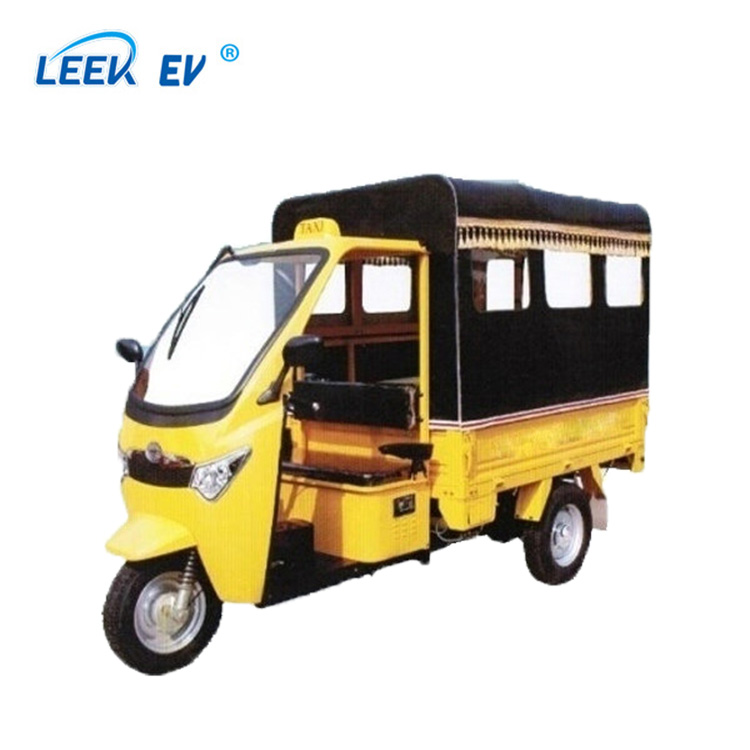 Electric tricycle two function for passenger and cargo with roof