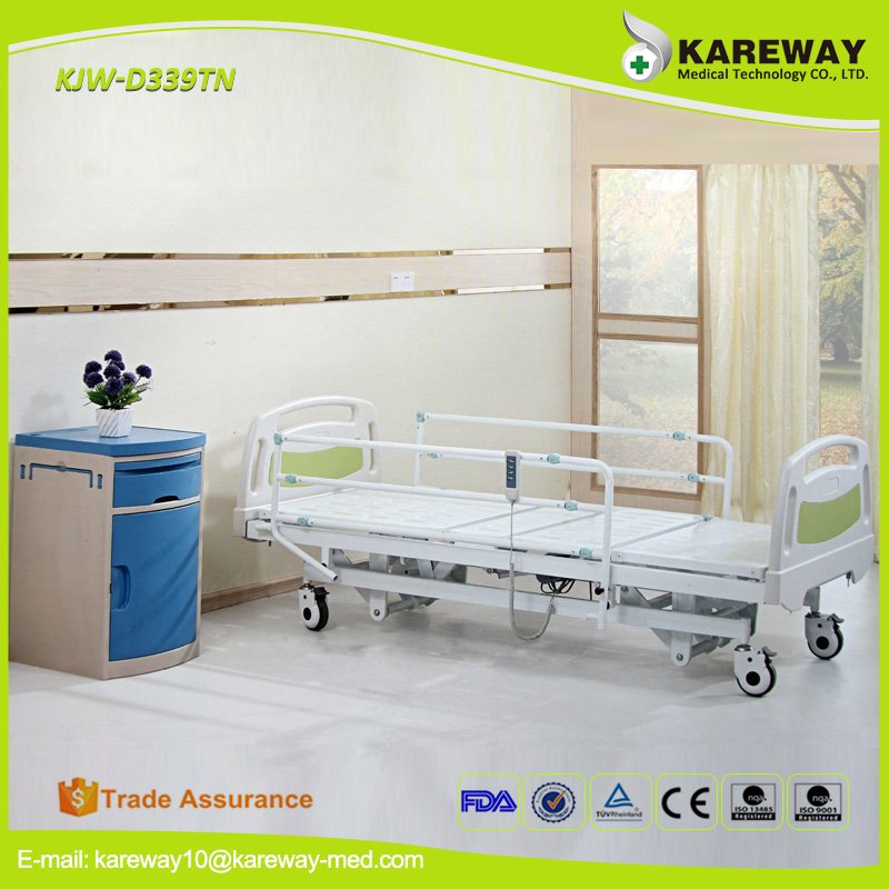 China supplier three functions electric hospital medical bed price