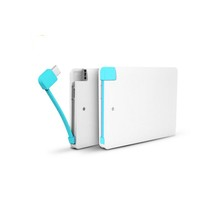 2600mAh Ultra-thin Mini Credit Card Power Bank External Battery Charger Powerbank For iPhones Mobile Phones
