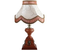 Flower Shape Wood Carving Antique Table Lamp JHF14-606TA