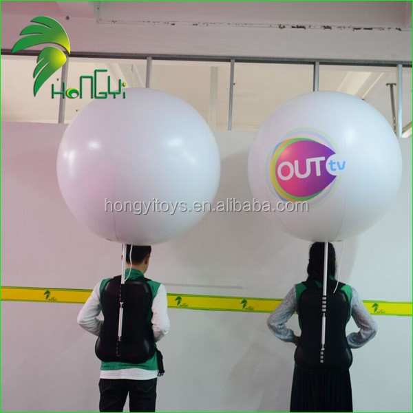 Inflatable Backpack Ball , Walking led Balloon on Back for Advertising