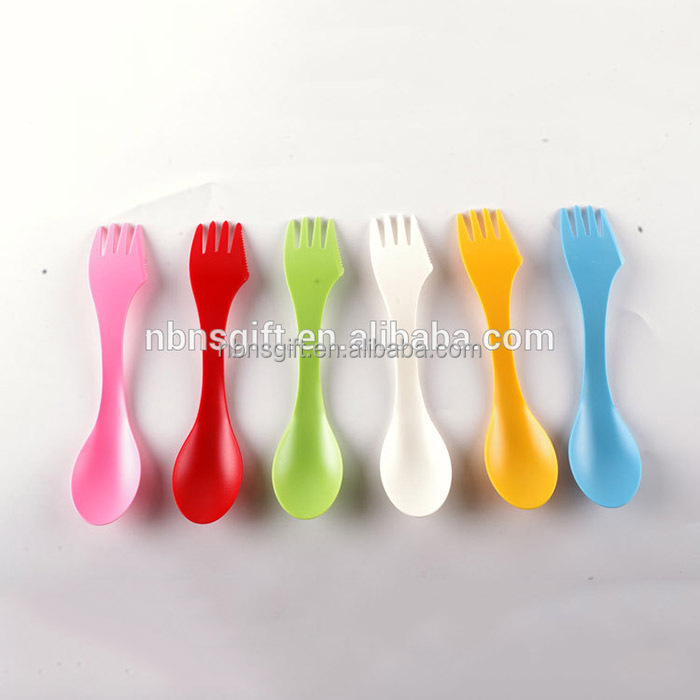 3-in-1 Reusable multi-functional outdoor Plastic spork